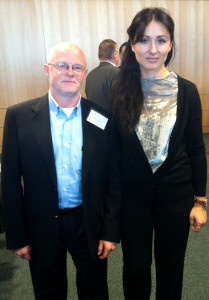 MEP Elena Oana Antonescu with EFCAM President Seamus Connolly
