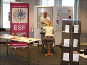 Demonstration of Seated Shiatsu